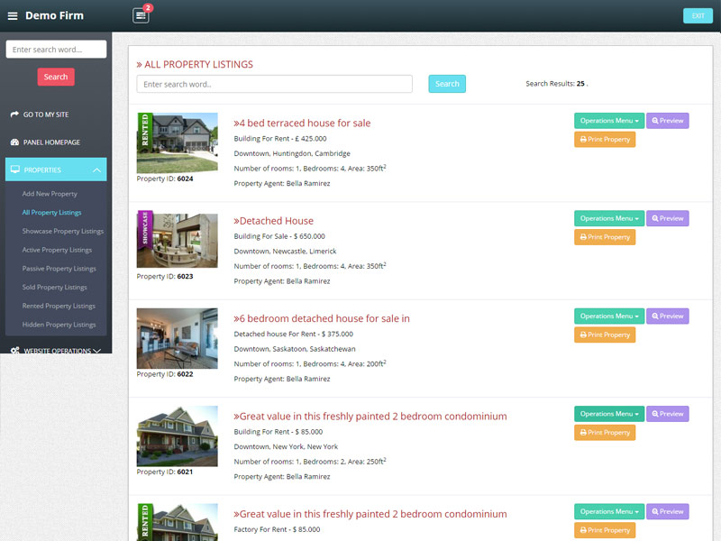 Property List Page